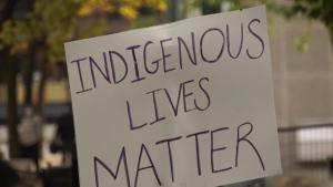 Indigenous Lives Matter poster