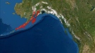 A magnitude 7.5 earthquake off southwestern Alaska has triggered a tsunami warning for the region. (U.S. Tsunami Warning System)