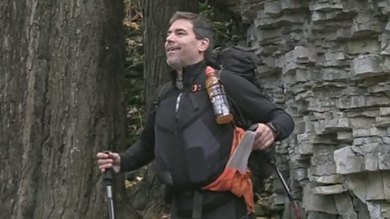 Man with brain injury hiking 900 km Bruce Trail