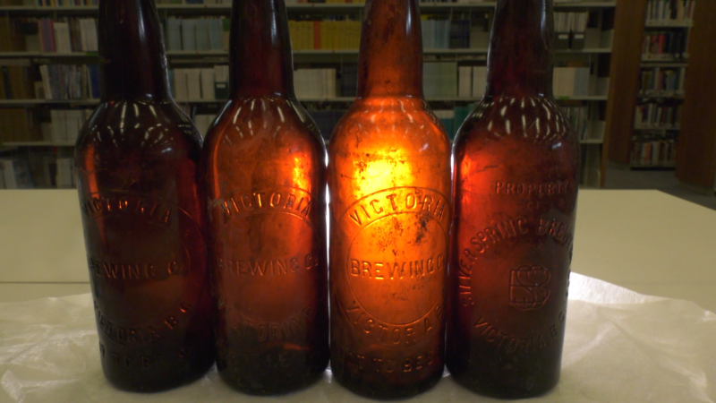Several beer bottles that have been traced back to Victoria brewing companies in the early 1900's were recently discovered at Royal Roads university.