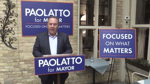 Paul Paolatto during his mayoral campaign.
