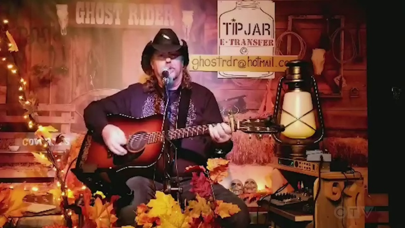 Sturgeon Falls musician Claude Lecuyer, a.k.a. 'Ghost Rider,' sings Johnny Cash.