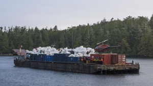 Roughly 425 tonnes of ocean debris has been removed from B.C.'s coastline by tourism operators and B.C. First Nations this year: (Small Ship Tour Operators Association of British Columbia)