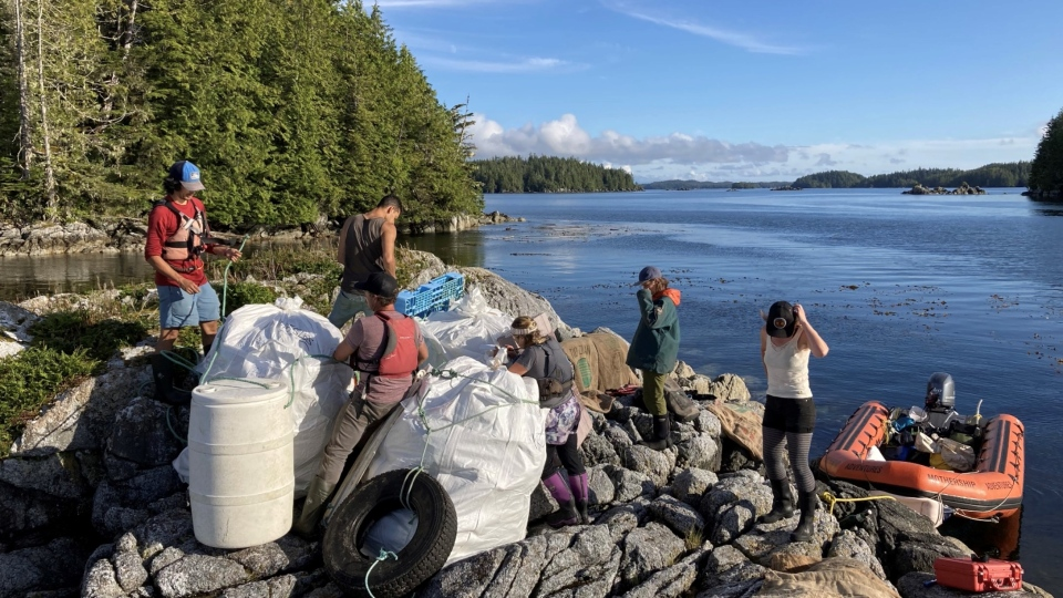 Roughly 127 tonnes of marine debris has been removed from B.C.'s rugged coastline by tourism operators and B.C. First Nations: (Small Ship Tour Operators Association of British Columbia)