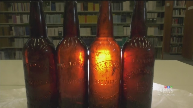 100-year-old beer bottles found at Royal Roads