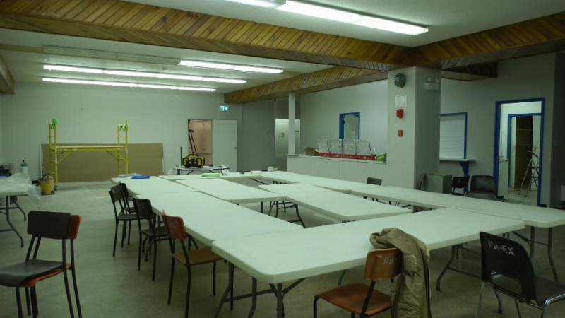 Temporary shelter in Prince Albert