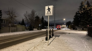 Pedestrians and drivers should expect to encounter slick conditions Tuesday morning