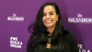 """Nour Hachem-Fawaz, founder of 'Build A Dream"""" launches national contest seeking COVID-friendly Halloween candy innovations on Oct. 19, 2020. (Rich Garton / CTV Windsor)"""