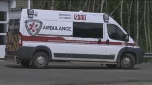 An ambulance is seen in Fredericton in this file photo.