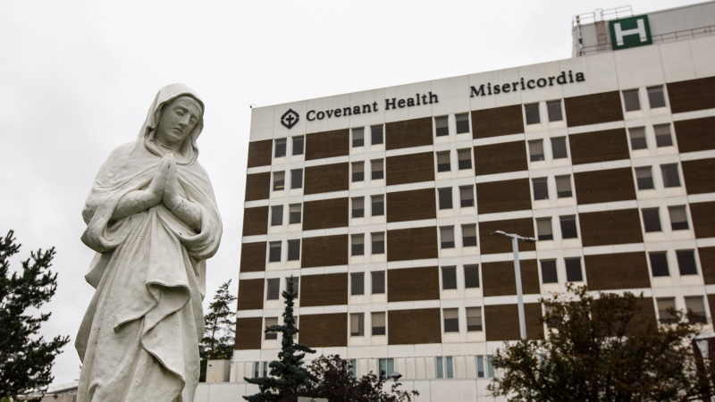 Edmonton's Misericordia Hospital has dealt with a number of COVID-19 cases throughout the pandemic. (THE CANADIAN PRESS/Jason Franson)