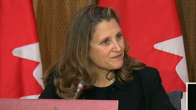 Freeland acknowledges systemic racism in Canada