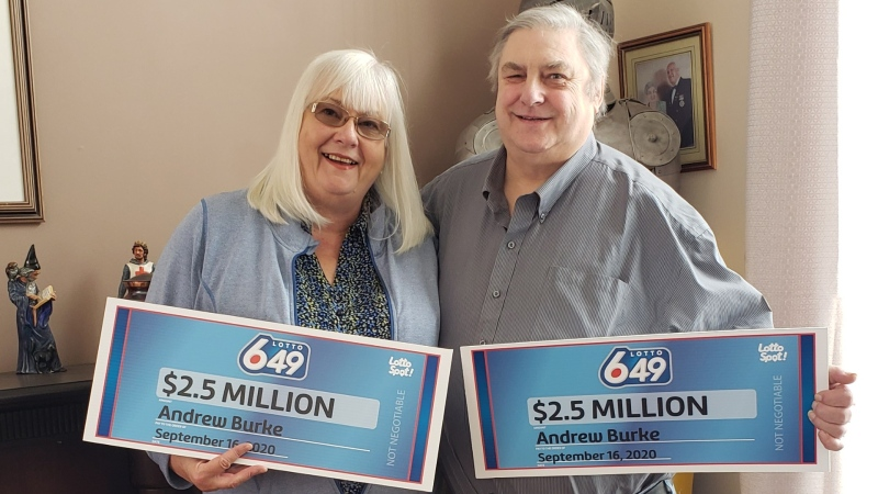 Andrew Burke and his wife won a $5-million Lotto 6/49 jackpot. (Lotto 6/49)