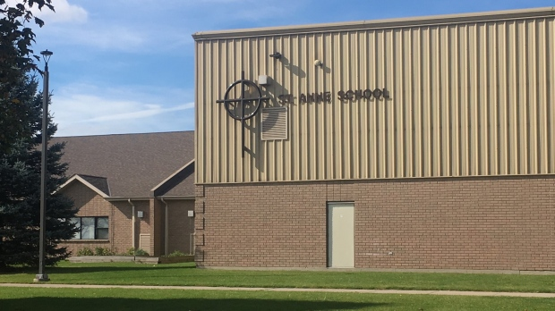 St. Anne Catholic School in Blenheim, Ont., on Tuesday, Oct. 20, 2020. (Chris Campbell / CTV Windsor)
