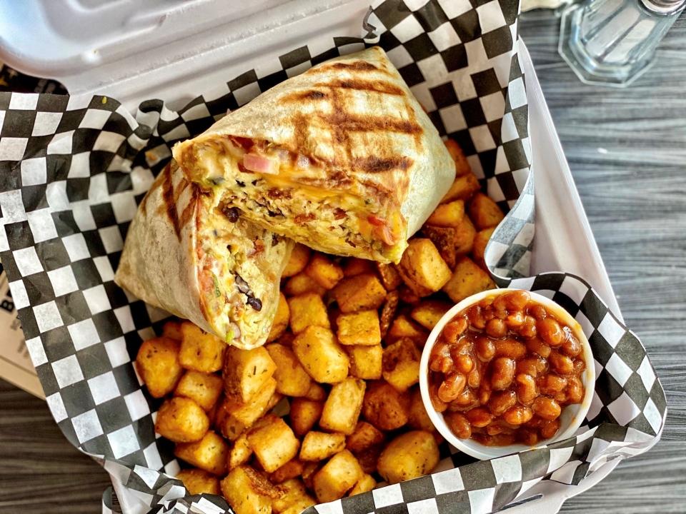 Zak's Diner Breakfast Burrito