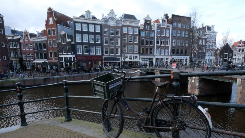 More than half of Amsterdam's residents over the age of 12 cycle daily. The Dutch city is famed for being a cycle friendly city, but now authorities are harnessing flower power to make the city safer for pedestrians. (Yuriko Nakao/Getty Images)