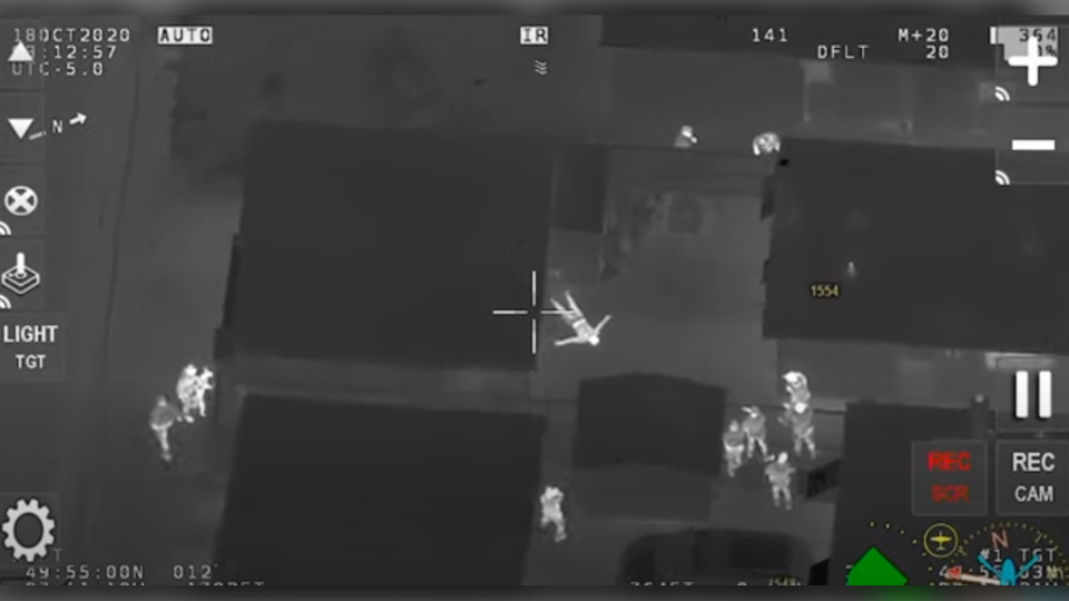 Air1 footage of arrest