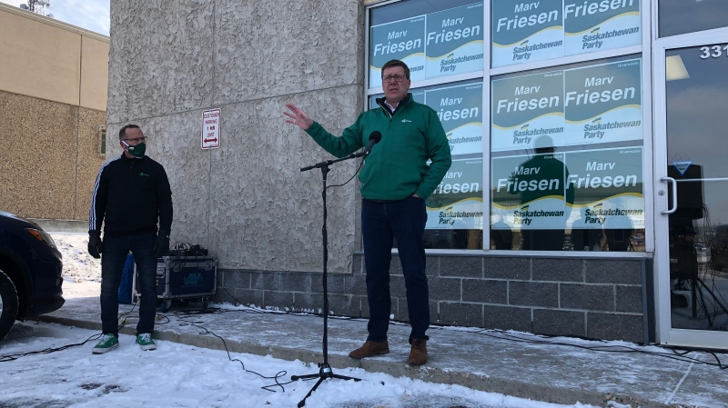 Scott Moe speaks during an Oct. 20 campaign event in Saskatoon. (Pat McKay/CTV News)