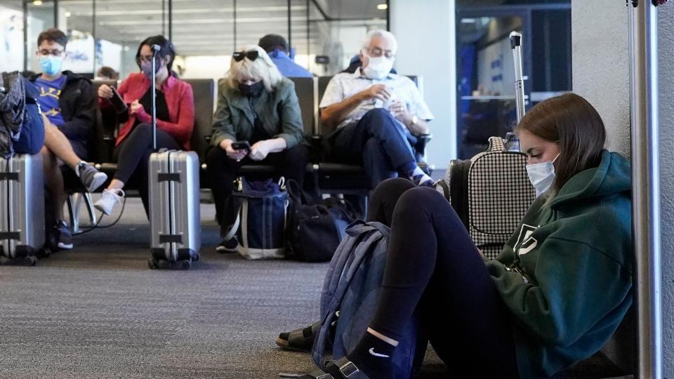 plane, travel, masks,