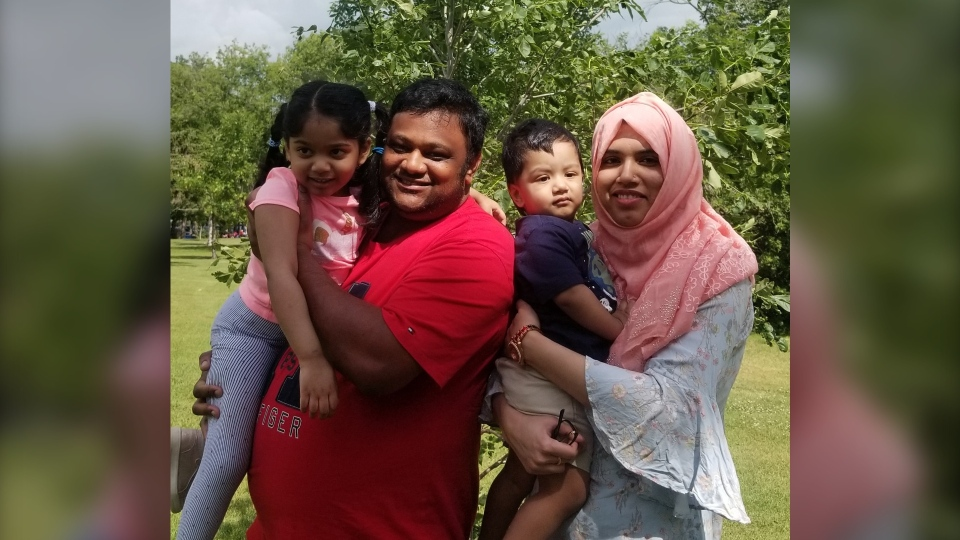 Jony Rahaman (second from left) with his wife and children. (Courtesy: Jony Rahaman)