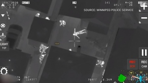 Air 1 spots Calgary man carrying gun in Winnipeg