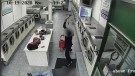 A seemingly unprovoked attack at a laundromat in Toronto's west-end was caught on camera Monday afternoon. (CTV News Toronto)