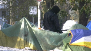 Peace Camp residents are gradually leaving as temporary housing becomes available. Tuesday Oct. 20, 2020 (Darcy Seaton/CTV News Edmonton)