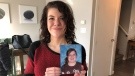 Brianna Bowyer is trying to raise $18,000 for skin-removal surgeries after the province denied coverage for her following her rapid weight loss. (Francois Biber/CTV Saskatoon)