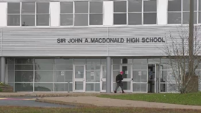 Sir John A. Macdonald High School is seen in Upper Tantallon, N.S., in this file photo.