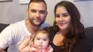Ricardo and Jessica Batista with their daughter Eva. (Batista)