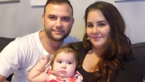 Ricardo and Jessica Batista with their daughter Eva. (Batista)