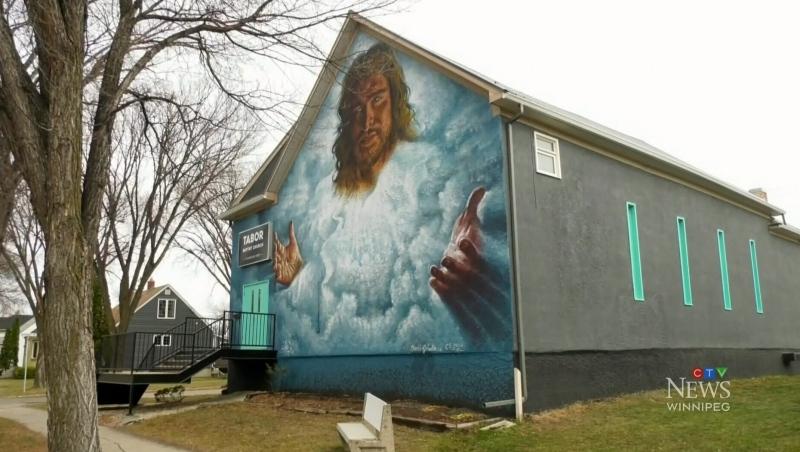 Winnipeg church gives mural another face lift