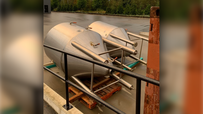 Boardwalk Brewery in Port Coquitlam is asking for the public's help tracking down two massive fermenting tanks that were stolen over the weekend. (Phil Saxe)