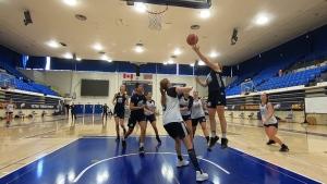University basketball on hold