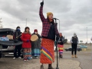 Rally at RCMP building in Saskatoon
