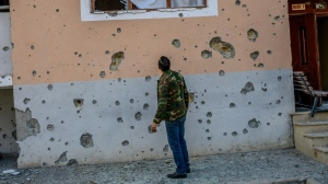 The fighting in Nagorno-Karabakh has left hundreds of people dead. (AFP)