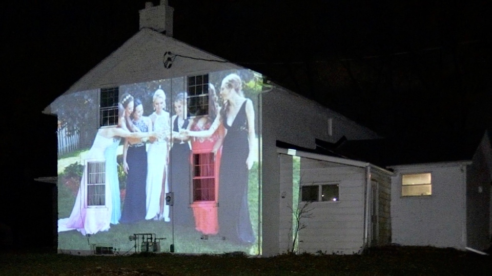 Projection photo exhibit