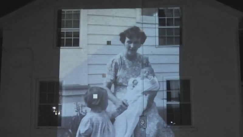 Clarke House photo projection exhibit