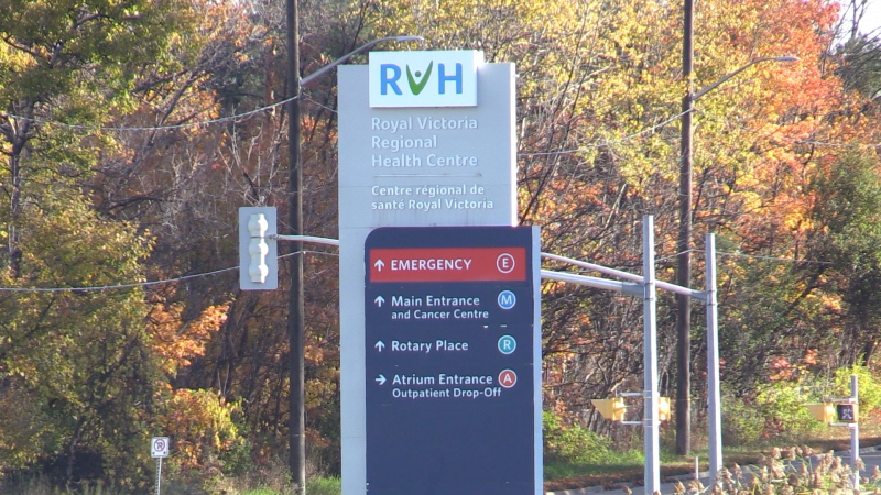 The Royal Victoria Regional Health Centre in Barrie, Ont. (Mike Arsalides/CTV News)