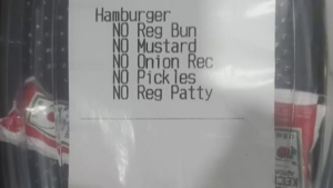 Woman orders, and receives, ketchup packets from M