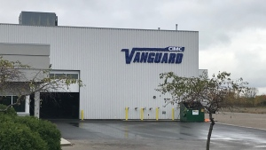 CIMC Vanguard in Sarnia, Ont. is seen Wednesday, Oct. 21, 2020. (Sean Irvine / CTV News)