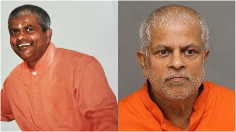 His Holiness Swami Pushkarananda is seen in these photos released by Toronto police.