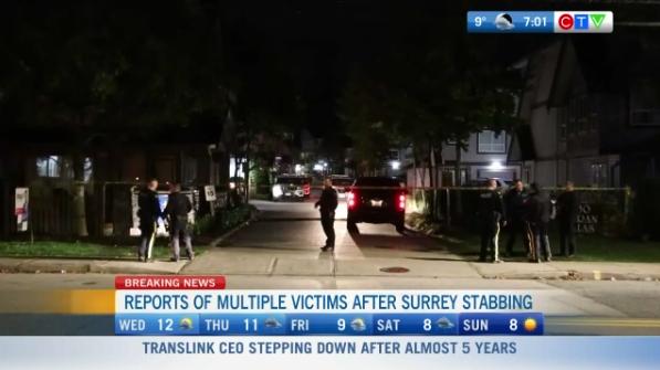 stabbing, Surrey
