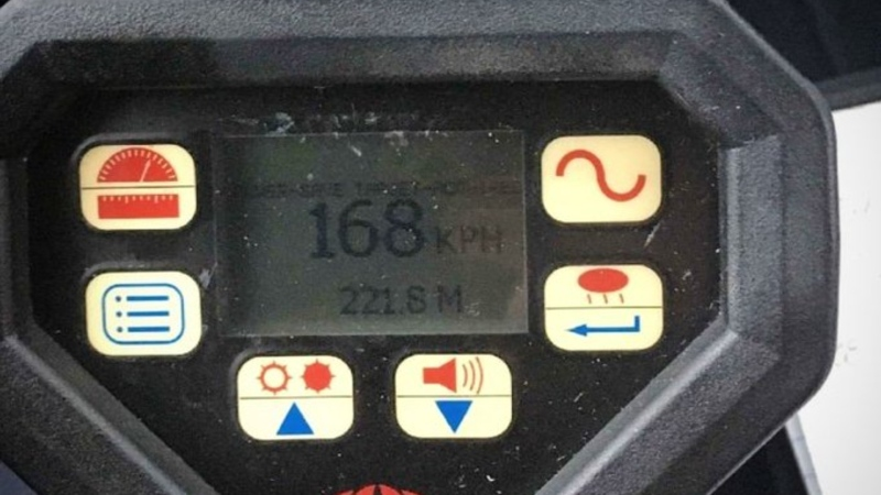 A BMW driver who was spotted travelling more than double the posted speed limit along the Pat Bay Highway is just one of five people who had their vehicles impounded for excessive speeding in Greater Victoria over the past week: (Central Saanich Police / Twitter)