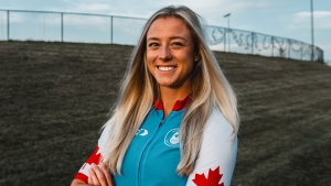 Kelsey Mitchell, world record-setting track cyclist and Tokyo 2020 medal hopeful. (Handout photo)