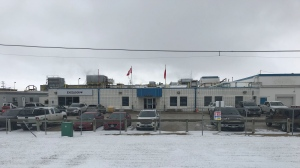 The Exceldor Co-operative poultry plant in Blumenort, Man., formerly known as Granny's Poultry, on Oct. 21, 2020. The company confirmed a death of one of the workers due to COVID-19 (Source: Josh Crabb/ CTV News Winnipeg)