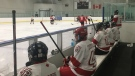 London Senior Hockey league action at Western Fair District in London, Ont. on Wednesday, Oct. 21, 2020. (Brent Lale / CTV News)