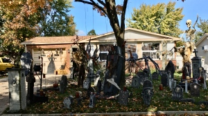 Homes around Windsor-Essex decorated for Halloween. (Gary Archibald/CTV Windsor)