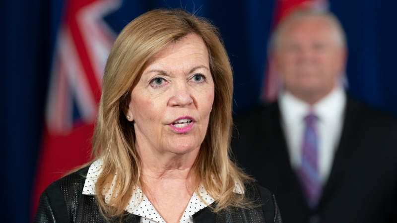 Ontario Health Minister Christine Elliott answers questions at the daily briefing at Queen's Park in Toronto on Tuesday June 30, 2020. THECANADIAN PRESS/Frank Gunn