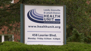 The Leeds, Grenville and Lanark District Health Unit building in Brockville. (Nate Vandermeer/CTV News Ottawa)