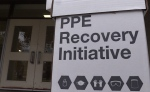 Nine PPE collection boxes are set up across Exeter, Ont. (Scott Miller / CTV London)